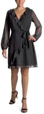 Julia Jordan Ruffled Fit & Flare Dress