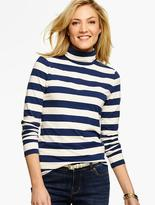 Talbots The Classic Turtleneck Tee - Bold Stripes