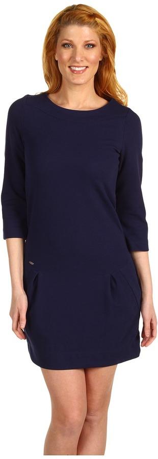 Lacoste 3/4 Sleeve Ponte Dress w/ Zipper Back