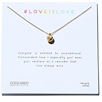 Dogeared Love Is Love Necklace in Sterling Silver, 16