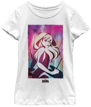 Fifth Sun Marvel Big Girl's Spider Gwen Watercolor Grade Short Sleeve T-Shirt