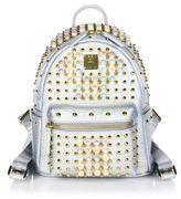 MCM Stark Pearl Studded Metallic Leather Mini Backpack