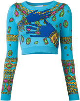 Moschino hands and jewels cropped jumper