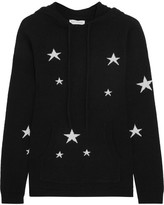 Chinti and Parker Hooded Star-intarsia Cashmere Sweater - Black