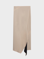 DKNY Reversible Matte Jersey Skirt With Front Slit