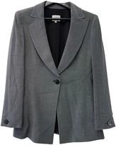 Armani Collezioni Grey Wool Jacket for Women Vintage
