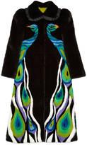 Gucci Peacock intarsia mink fur coat