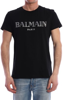 Balmain T-shirt Silver Logo