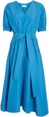 3.1 Phillip Lim Belted Cotton-Blend Poplin Dress