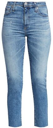 AG Jeans Isabelle High-Rise Crop Straight-Leg Jeans