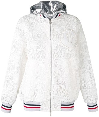 Moncler embroidered hooded jacket