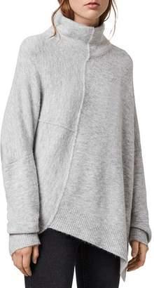 AllSaints Lock Funnel-Neck Asymmetric Sweater