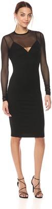 KENDALL + KYLIE Women's Mesh Overlay Dress