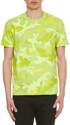 Valentino Men's Camo Crewneck T-Shirt