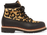 Tabitha Simmons Bexley Leopard-print Calf Hair And Leather Ankle Boots - Leopard print
