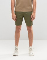 Asos Super Skinny Jersey Shorts In Khaki