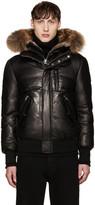 Mackage Black Leather Down Glen Jacket