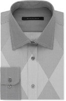 Sean John Men's Classic/Regular Fit French Gray Print Dress Shirt