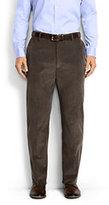 Lands' End Men's Traditional Fit Plain Front 18-wale Corduroy Trousers-Light Beige