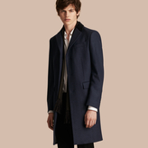 Burberry Wool Cashmere Coat with Velvet Collar