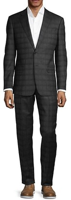 Armani Collezioni Classic-Fit Wool Plaid Suit