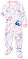 Petit Lem Newborn/Infant Girls) Printed Zip-Up Footie