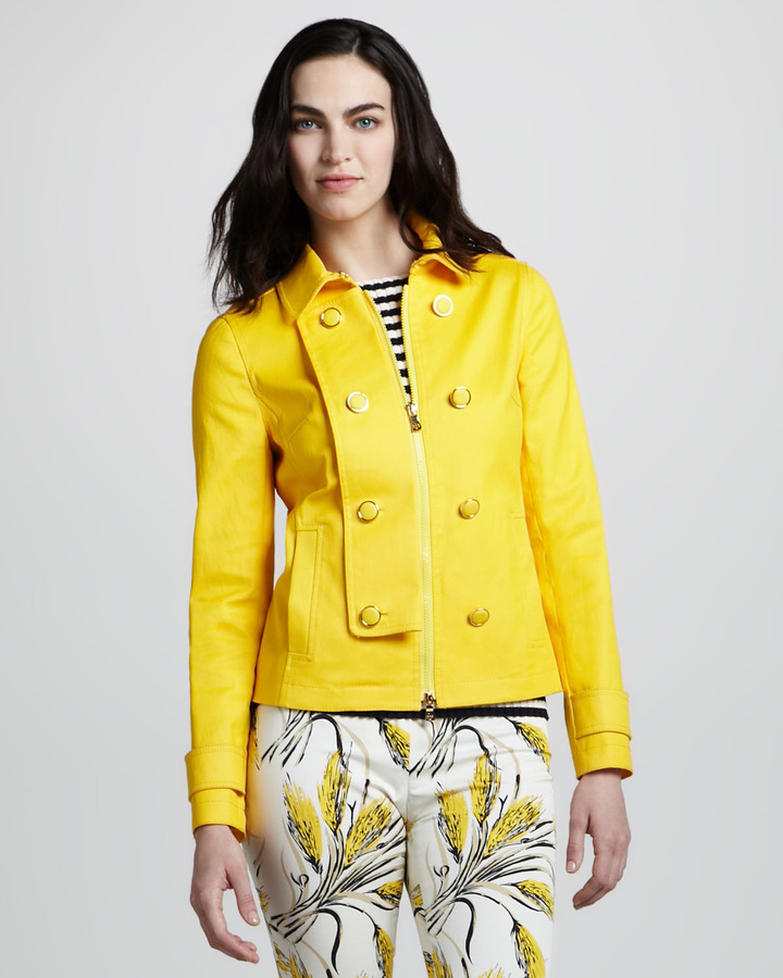 Tory Burch Trent Double-Breasted Twill Jacket