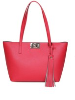 Furla Mimi m Shopping In Strawberry Color Leather