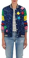 "Mira Mikati Women's ""Whatever"" Sequined Silk Bomber Jacket"