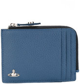 Vivienne Westwood Milano zip cardholder - men - Cotton/Leather - One Size
