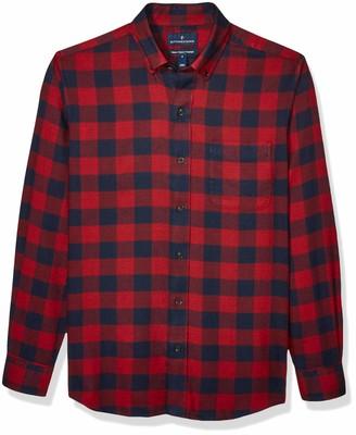 Buttoned Down Amazon Brand Men's Classic Fit Supima Cotton Plaid Flannel Sport Shirt
