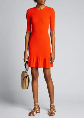 A.L.C. Vance 3/4-Sleeve Flounce Dress