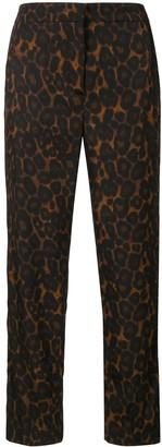 Erdem Gianna leopard-print cropped trousers