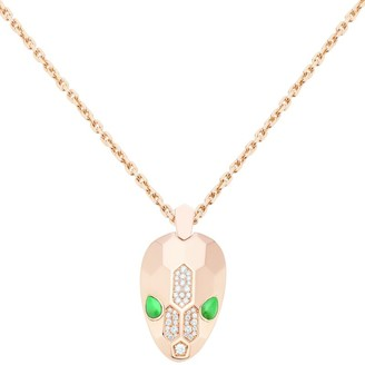 Bvlgari Rose Gold and Diamond Serpenti Seduttori Necklace