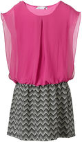 Speechless Girls Dress, Girls Chiffon-Top Zigzag Dress