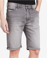 "Calvin Klein Jeans Men's Smoked Grey Slim Denim 10.5"" Stretch Shorts Created for Macy's"