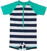 Wishere Kids Boy Girl Swimsuit One Piece Surfing Suits Beach Swimwear,blue stripe 6-12 Months