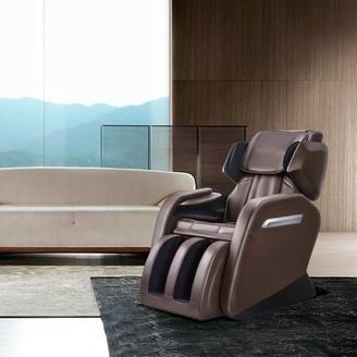 Heated Full Body Massage Chair Orren Ellis Fabric: Brown