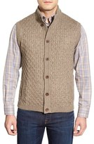 Robert Talbott Men's Mock Neck Button Front Sweater Vest