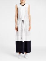 DKNY Pure Silk Maxi Dress with Pockets
