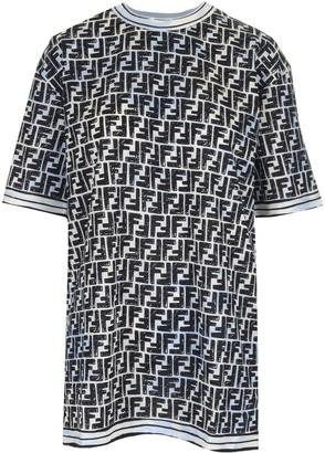 Fendi All Over FF Print Oversize T-Shirt