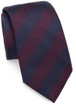 Saks Fifth Avenue COLLECTION Striped Silk/Cotton Tie