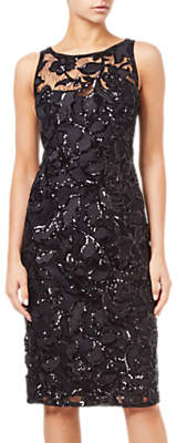 Adrianna Papell Sequin Embroidered Sheath Dress, Black