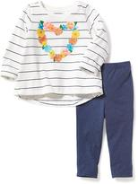 Old Navy 2-Piece Graphic Swing Tee and Jeggings Set for Baby