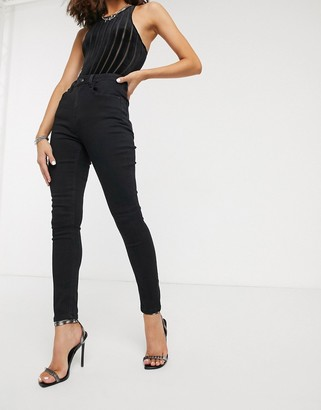 Object mom jeans in washed black