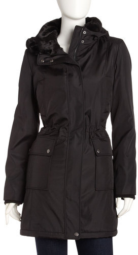 Andrew Marc New York City Luxe Faux-fur Lined Coat