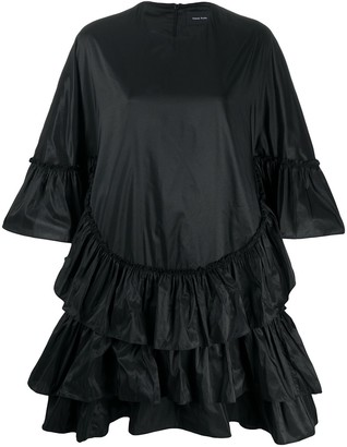 Simone Rocha Tiered-Ruffle Oversized Shift Dress