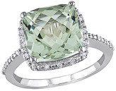 Thumbnail for your product : Rina Limor Fine Jewelry 10K 4.10 Ct. Tw. Diamond & Green Amethyst Ring