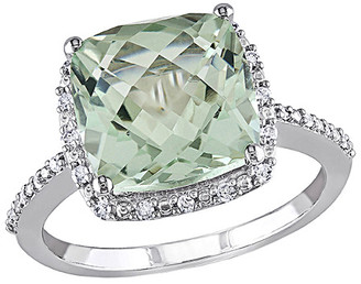 Rina Limor Fine Jewelry 10K 4.10 Ct. Tw. Diamond & Green Amethyst Ring
