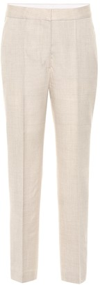 Stella McCartney Cropped linen-blend pants